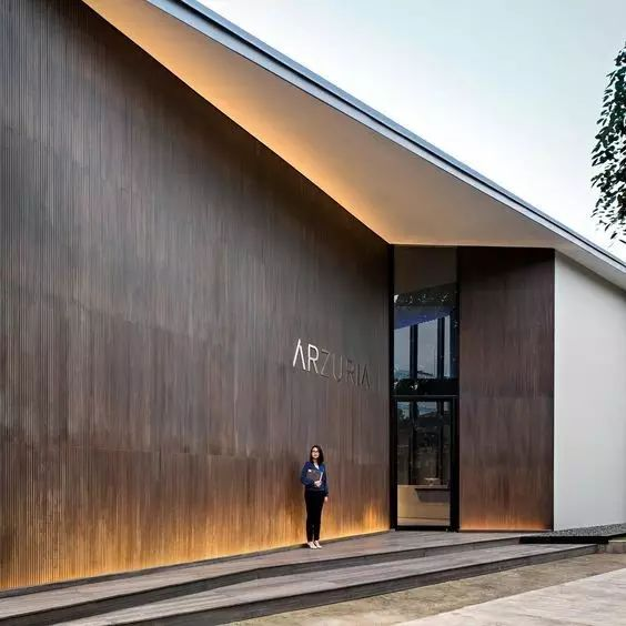 超有设计感的建筑入口_1