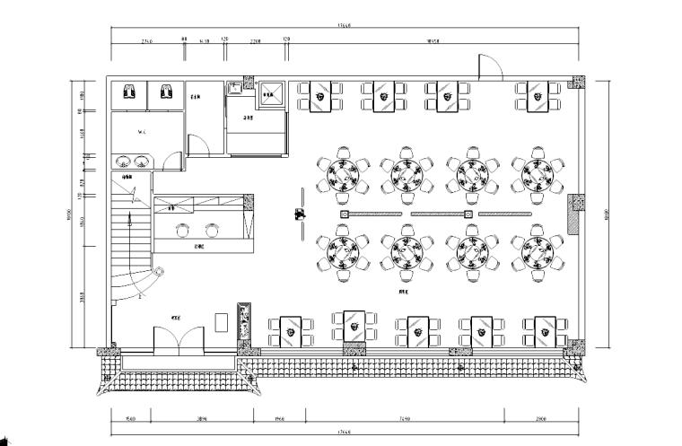 [四川]成都川行天下餐馆方案全套施工图