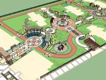 新古典主义居住区景观模型
