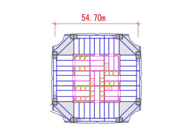 超大截面矩形钢管混凝土柱结构设计论文