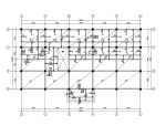 4层框架结构饭店建筑结构施工图(CAD、24张)