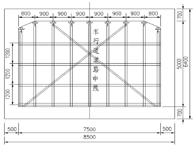 [重庆]市政干道路网地下通道满堂支架安全专项施工方案