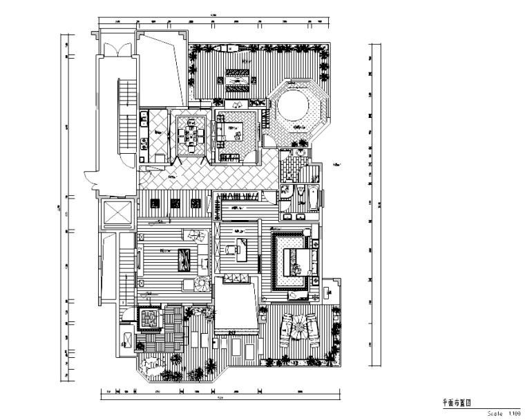 [四川]成都某东南亚风格别墅施工图及效果图