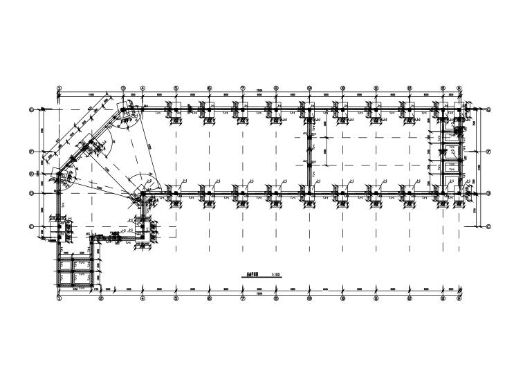 单层混凝土柱门式钢架结构图(CAD、10张)