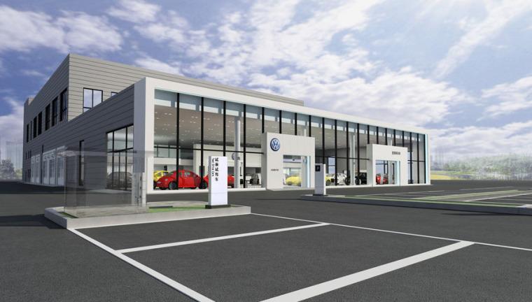 (原创)汽车4S店建筑外观设计案例效果图-4s店11