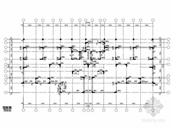 [河南]15层剪力墙结构住宅楼结构图(平板式筏基)
