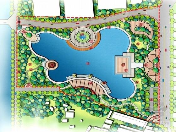 [广东]综合性现代气息的滨水开放公园景观规划设计方案