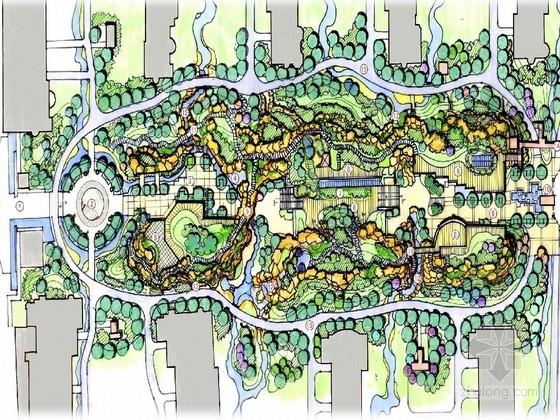 [北京]依山傍水绿色生态居住区景观设计方案