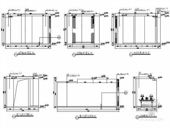[江西]华贵欧式风格四星级标准酒店室内装修施工图餐厅包厢立面图