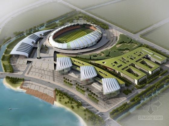 [连云港]滨海区奇异造型文体中心建筑设计方案文本