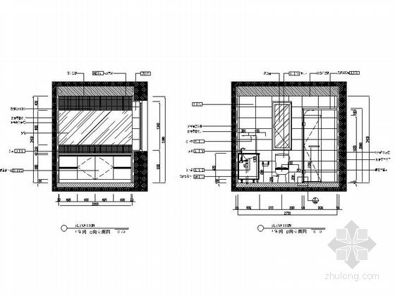 [沈阳]地产集团时尚现代三居室样板间装修图卫生间立面图