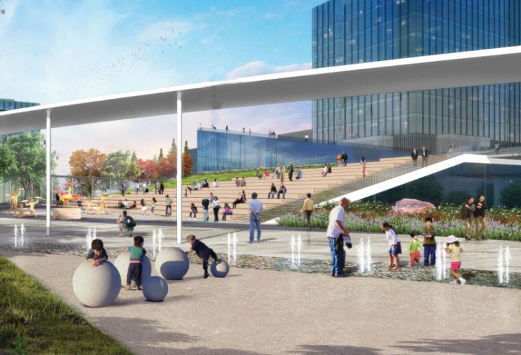 [上海]长风城市商业办公景观总体框架+住宅概念设计-AECOM