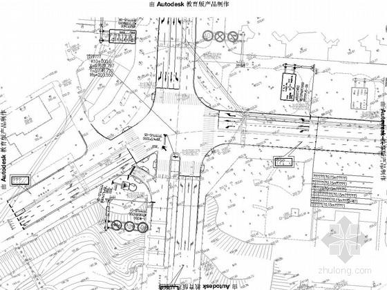 [重庆]市政道路改造交通设施设计图29张(标志标线信号系统)