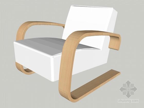 舒适椅子SketchUp模型下载