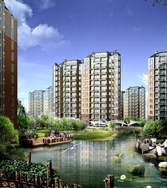 [上海]海湾小城住宅景观设计方案-景观效果图