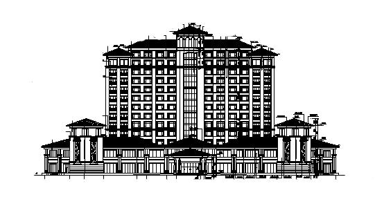 新中式风格汇景酒店全套施工图