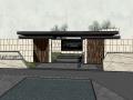 和园入口大门模型设计(新中式风格)