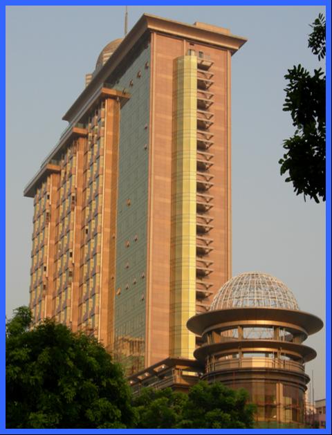 皇轩酒店高层建筑组合石材幕墙施工质量控制