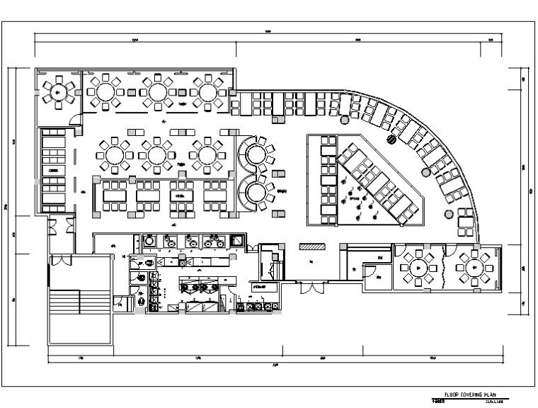 某饭店室内设计施工图全套(含施工图JPG)