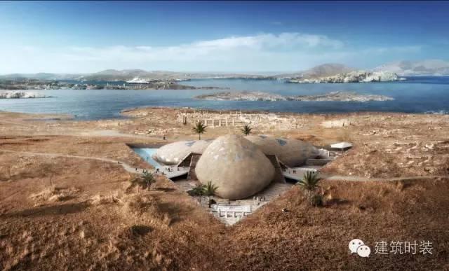 这个在希腊的考古博物馆,像三个巨大的鹅卵石