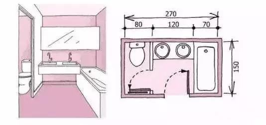 卫生间装修尺寸,精细到每一毫米的设计!_6