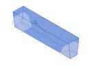 带斜切割端点的预制圆锥体形梁