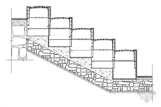 台阶花池剖面图1