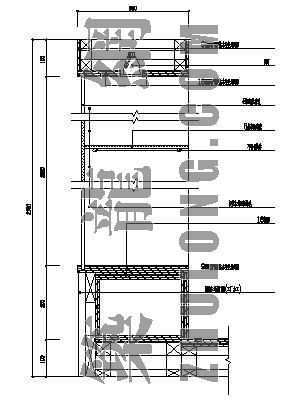 装饰架(玻璃)剖面图