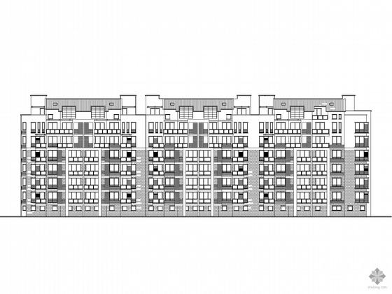 [毕业设计]某小区六层住宅楼建筑初步设计图