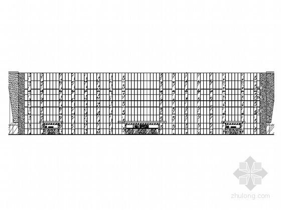 [河北省香河]某商业城外墙改造建筑施工图(明框玻璃幕墙)