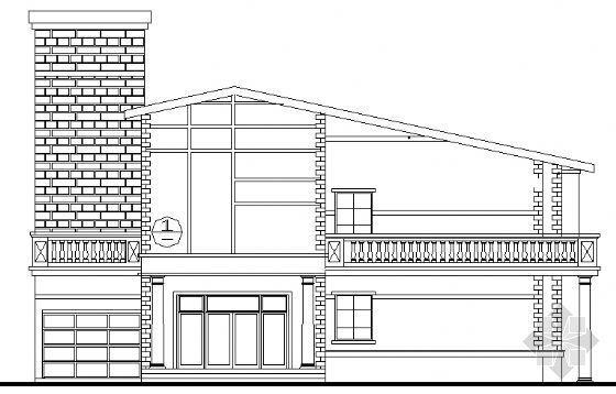 某三层旅馆式别墅的建筑方案图