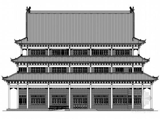 某四层仿古宾馆建筑方案施工图