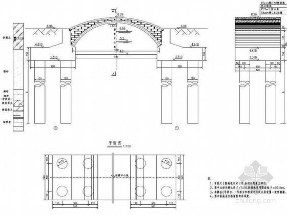 广州某休闲区景观桥施工图全套图纸
