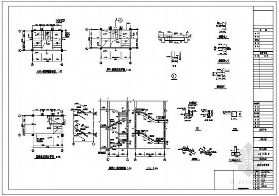 某厂房楼梯结构详图