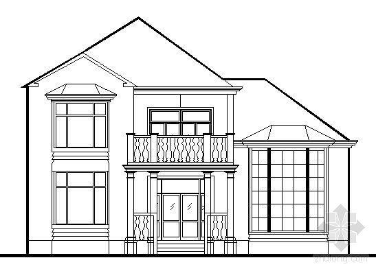 某二层别墅建筑方案图