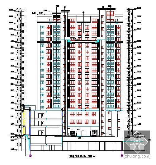 [新疆]2015年住宅区消防工程预算书(附图纸广联达软件应用)-立面图