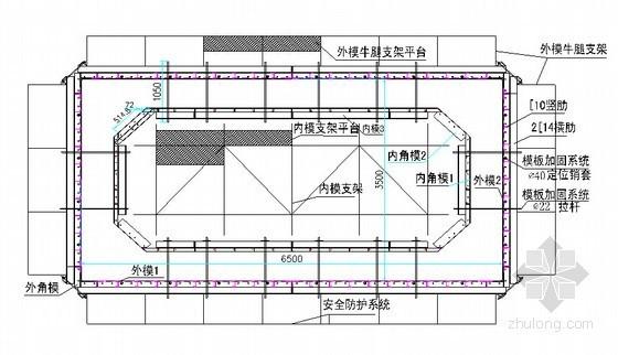 [广东]专家评审桥梁15~38米高墩施工专项方案64页(空心薄壁墩双柱圆墩)-模板工作平台示意图