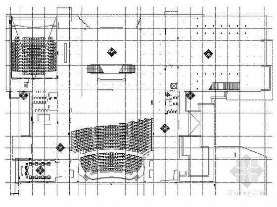 [河北]高级现代时尚数字影剧院室内装修施工图(含方案)