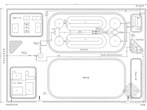 2.6万吨城镇污水处理厂全套设计(厌氧池、氧化沟)
