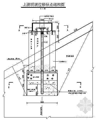 土石坝观测设计全套图