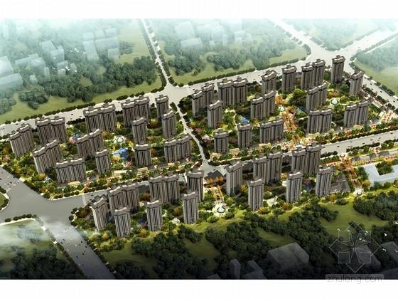 [陕西]现代绿色宜居高层安置住宅小区规划设计方案文本(含CAD)