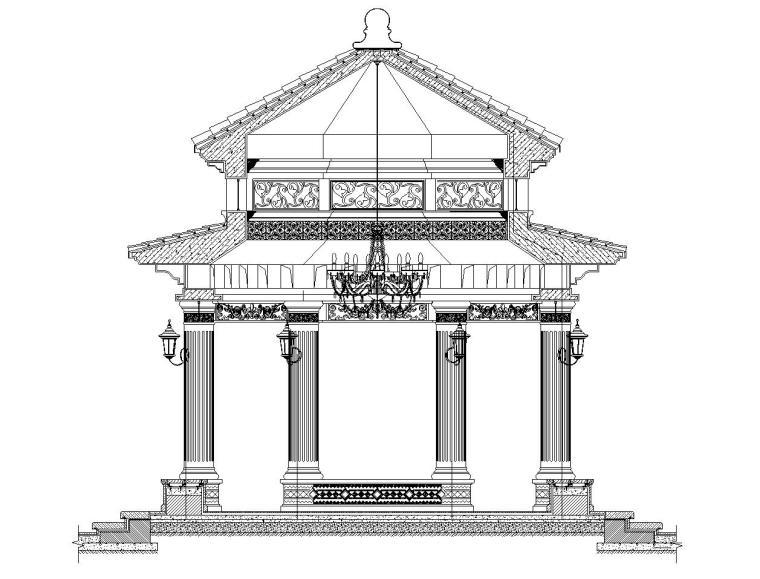 高端景观亭施工图设计-恒大设计院