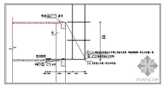 内蒙古某办公楼脚手架施工方案(工字钢悬挑、计算书)
