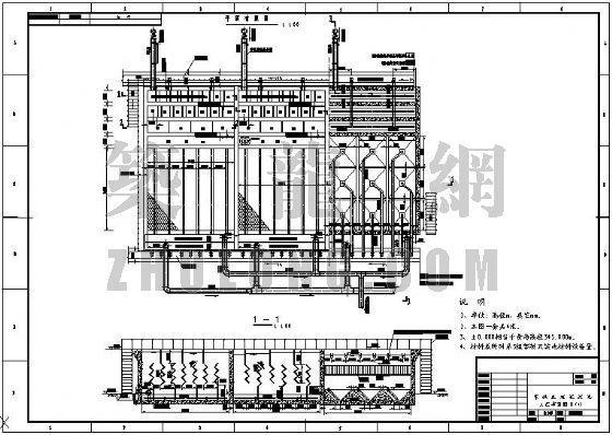 四川某水电站施工供水的絮凝反应沉淀池的工艺施工详图