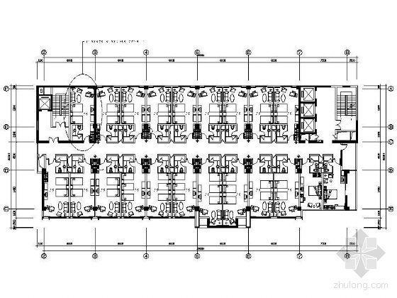 [深圳]某四星酒店客房平面布置图