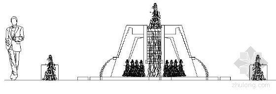 特色喷泉施工图