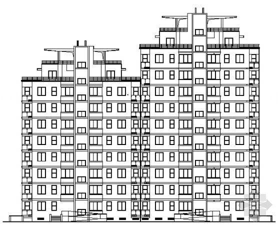 合肥某十层层住宅全套建筑施工图
