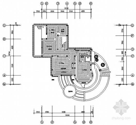 [青岛]某别墅地源热泵系统图