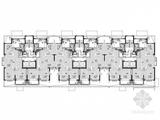 [山东]高层住宅建筑地暖系统设计图纸(含给排水设计)