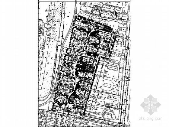 某5万平米长条地块居住区规划方案总平面图